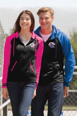 Sport-Tek Sport-Wick Varsity Fleece Full-Zip Hooded Jacket. ST236