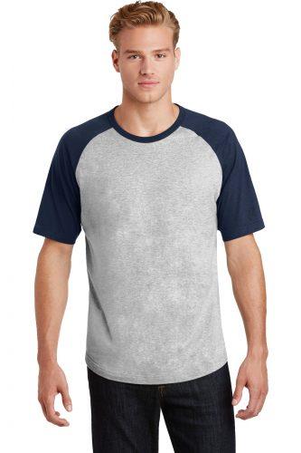 Sport-Tek Short Sleeve Colorblock Raglan Jersey. T201