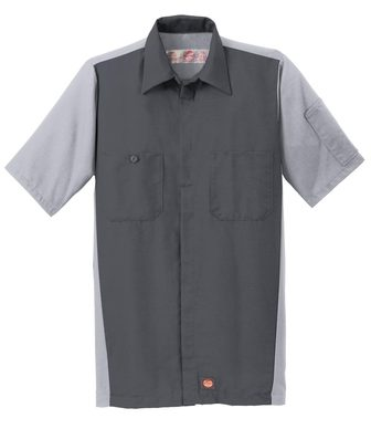 Red Kap® Men's Short Sleeve Ripstop Crew Shirt
