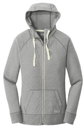 Ladies New Era Sueded Cotton Full Zip Hoodie