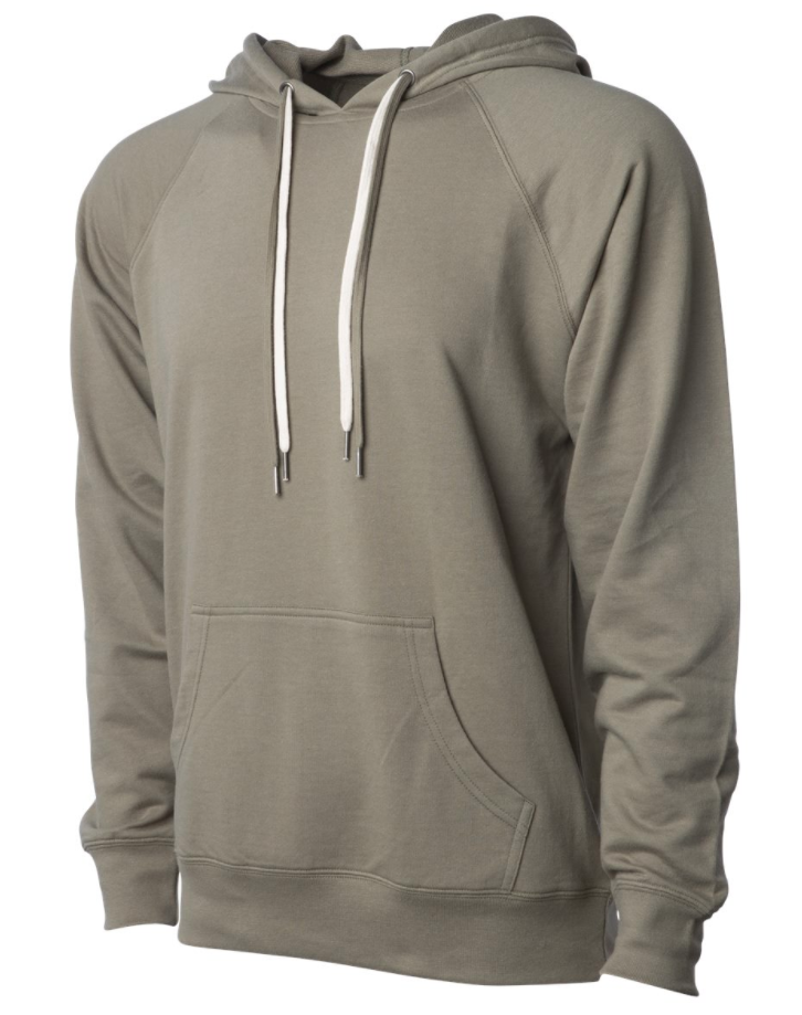 Icon Unisex Lightweight Loopback Terry Hooded Pullover